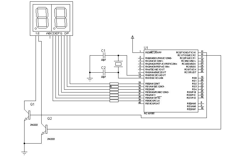 Multiplexacion con display 7 segmentos