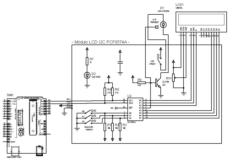 Arduino Proteus I2C LCD