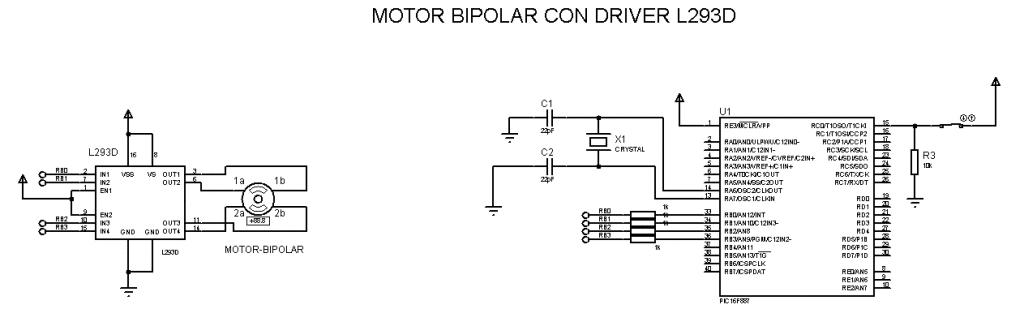 Motor Paso a Paso Bipolar con PIC