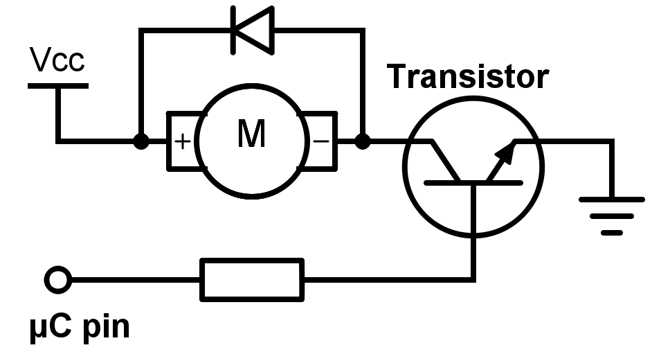 Diodo en paralelo al motor