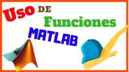 Uso de Funciones en Matlab
