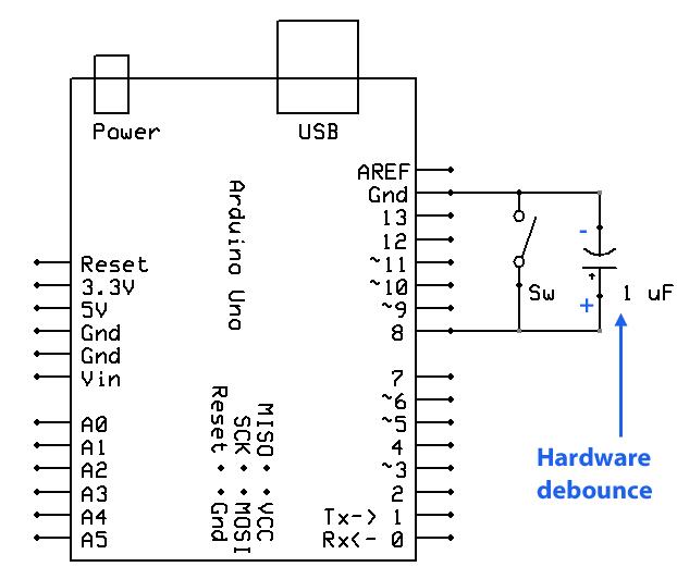 debounce Arduino en Interrupciones