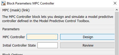MPC Simulink Toolbox