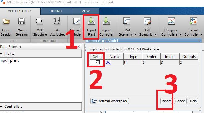 importar modelo MPC Toolbox MATLAB