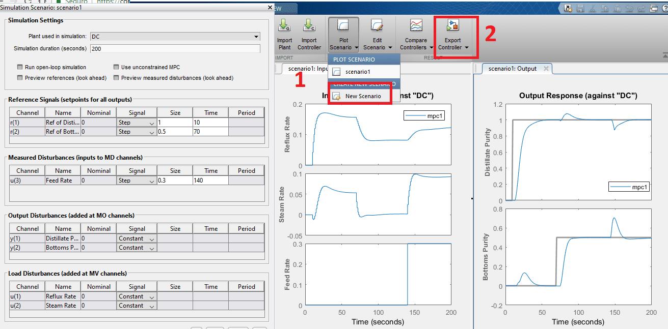 MPC Toolbox Scenarios
